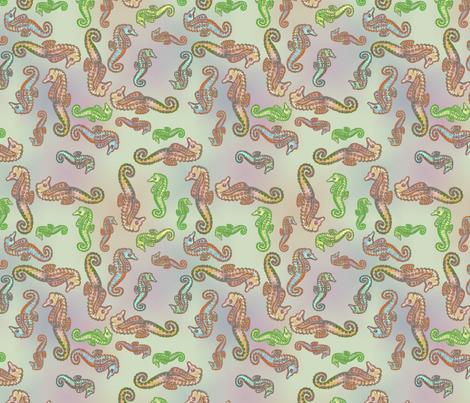 fbdf263a7ba57 Seahorse Symphony Ditsy Coordinate Browns and Greens wallpaper ...