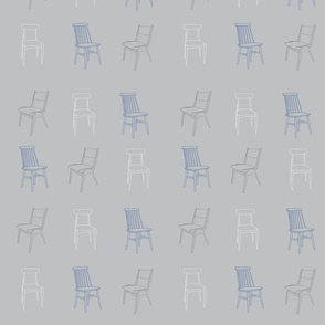 Chairs 50s blue