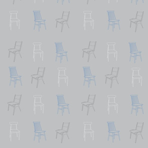 Chairs '50s light blue