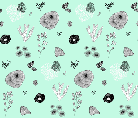 delicate sea life fabric by booboo_collective on Spoonflower - custom fabric