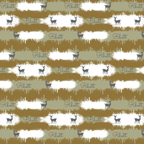 deer camo  2  MEDIUM - brown personalized Rhett