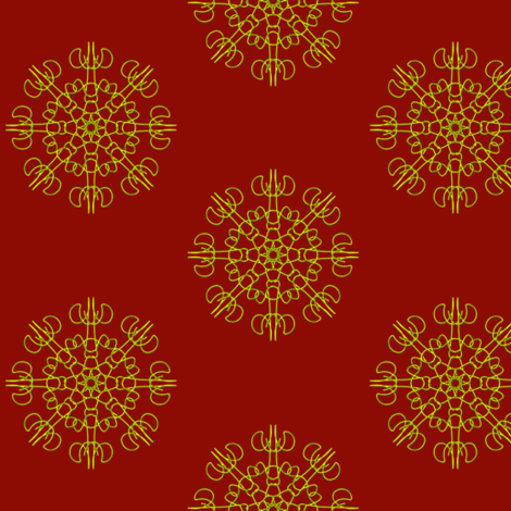 Mariner's Wheel on Regal Red - Small Scale fabric by rhondadesigns on Spoonflower - custom fabric