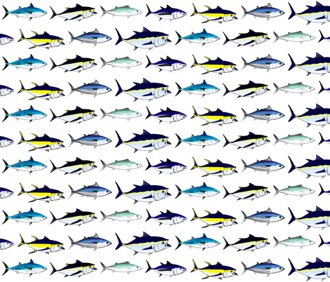 7 Tuna bigger fabric by combatfish on Spoonflower - custom fabric