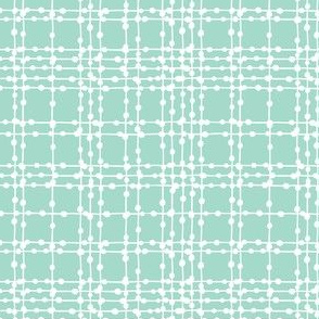 Skipping Stones - Geometric Dot Plaid Aqua