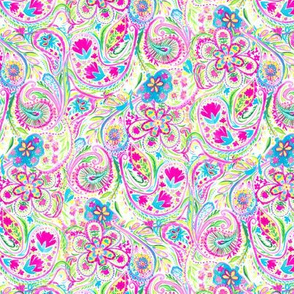 Paisley Watercolor Brights