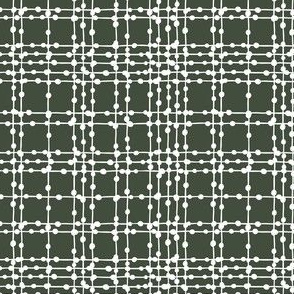 Skipping Stones - Geometric Dot Plaid Black & White