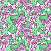 green and purple tentacles