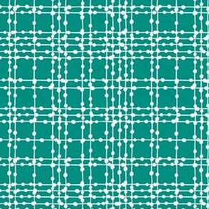 Skipping Stones - Geometric Dot Plaid Teal