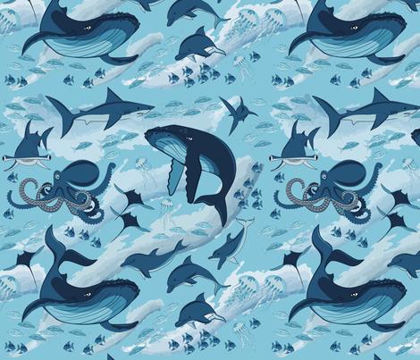 ocean fabric by minyanna on Spoonflower - custom fabric