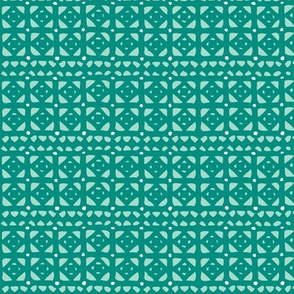 Veranda - Geometric Teal