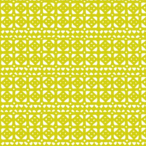 Veranda - Geometric Yellow Green