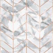Carrera Marble Herringbone / Rose Gold Gilt