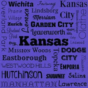 Cities of Kansas, purple