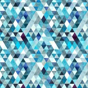 Summer Rain Watercolor Triangles Small