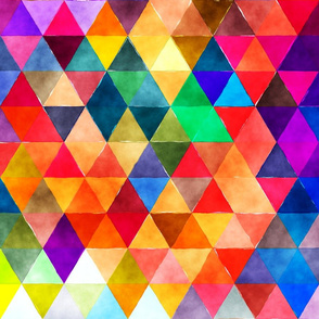 Bold and Beautiful Watercolor triangles