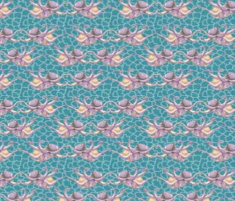 octoballet_4x3 fabric by leroyj on Spoonflower - custom fabric