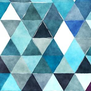 Summer Rain Watercolor Triangles Oversized