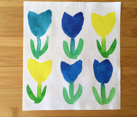 Pattern_tulips_blue_yellow_comment_710982_preview