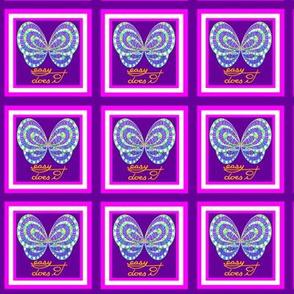 Purple Butterfly Easy Does It Two