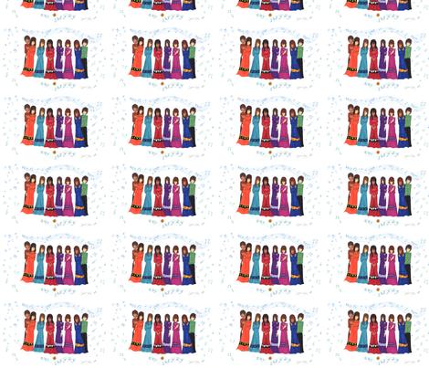 Cherokee Choir fabric by tigerart on Spoonflower - custom fabric