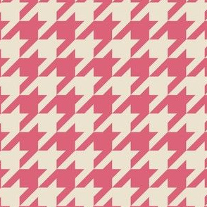 Houndstooth Pink White