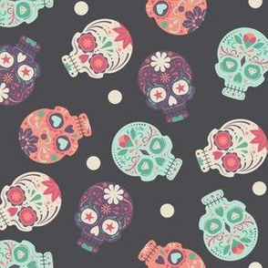 Party Party Party Pastel Skulls Small