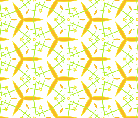Summer Seeds fabric by edjeanette on Spoonflower - custom fabric