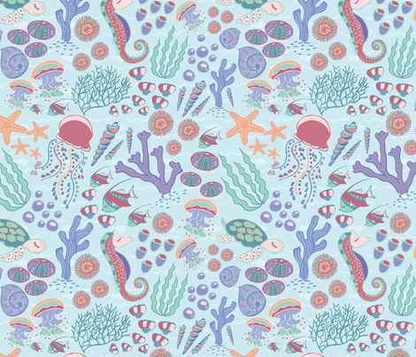 Ocean Paradise fabric by bybeck on Spoonflower - custom fabric