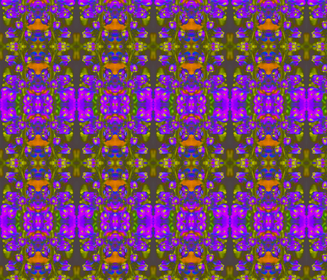 Purple Flower Loden Green fabric by ciswee on Spoonflower - custom fabric