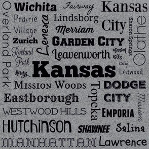 Cities of Kansas, gray