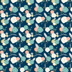Mini summer blooms navy