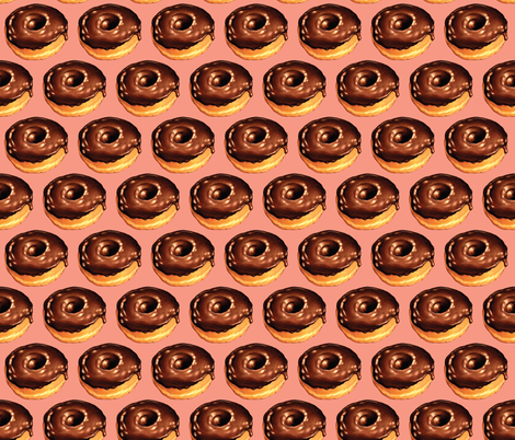 Chocolate Donut - Pink fabric by kellygilleran on Spoonflower - custom fabric