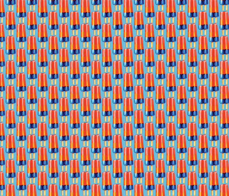 Rainbow Double Popsicle fabric by kellygilleran on Spoonflower - custom fabric