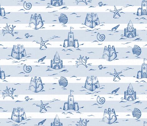 Sandcastle Stripes fabric by mia_valdez on Spoonflower - custom fabric