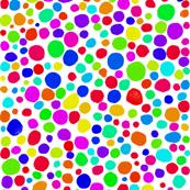 Rainbow Mosaic on Snowy White - Small Dots