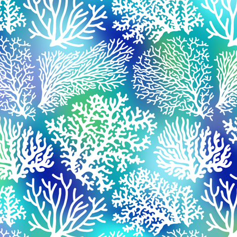 coral field  fabric by mirabelleprint on Spoonflower - custom fabric
