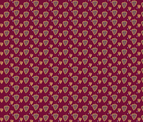 birch_leaf_on_dark_red_l fabric by tatyana_sh on Spoonflower - custom fabric