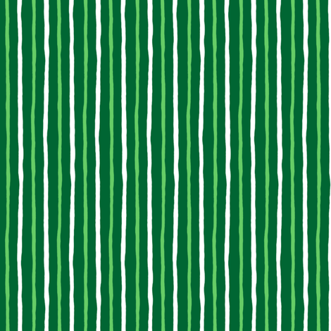 Minty Goodness: Simple Wavering Stripe_150_DPI fabric by tallulahdahling on Spoonflower - custom fabric