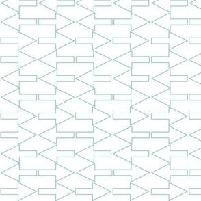 Turquoise Arrows, Linear Geometric Pattern