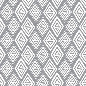 Diamond In The Rough - Geometric Dark Grey