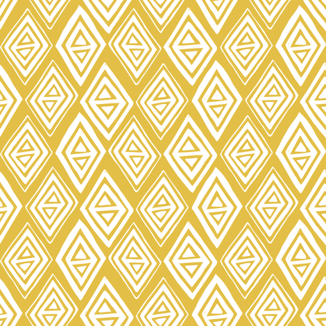 Diamond In The Rough - Geometric Yellow fabric by heatherdutton on Spoonflower - custom fabric