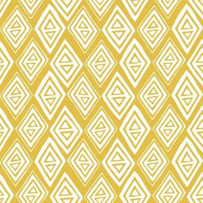 Diamond In The Rough - Geometric Yellow