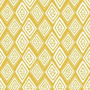 Diamond In The Rough - Geometric Yellow