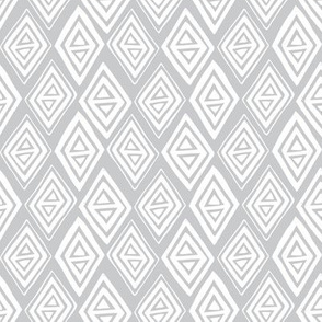 Diamond In The Rough - Geometric Light Grey