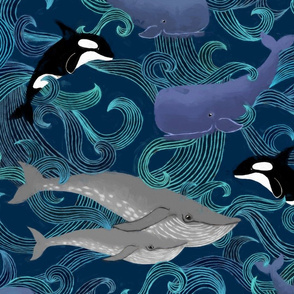 Beautiful Ocean Giants - large print
