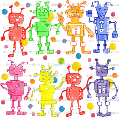 Rainbow Robots and Dots