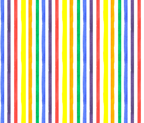 Stripes in Primary Colors fabric by countrygarden on Spoonflower - custom fabric