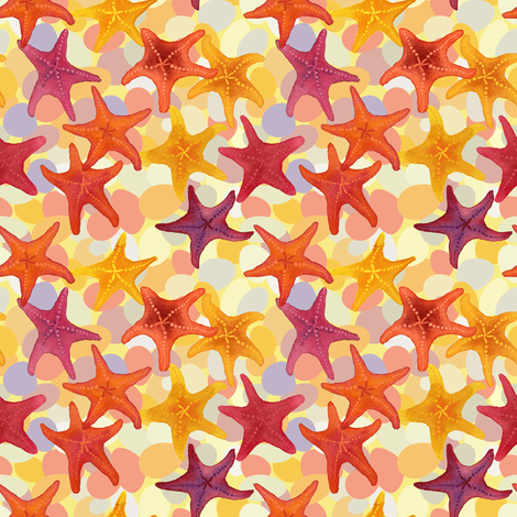 seastar fabric by laura_mooney on Spoonflower - custom fabric