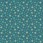 Starfish in the teal Ocean