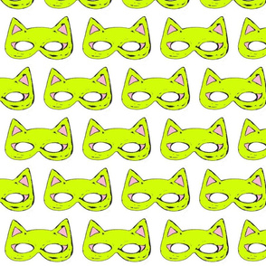 Cat Mask Lime Green